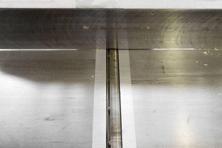 planos electricos: Cepilladora eléctrica industrial de carpintería Foto de archivo