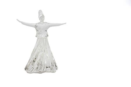 whirling: Whirling dervish isolated on white background