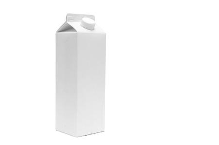 White blank milk box on white background Stok Fotoğraf