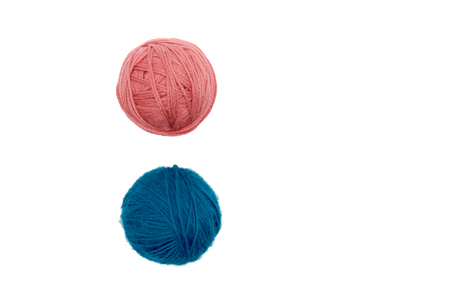 Balls of yarn isolated on white background