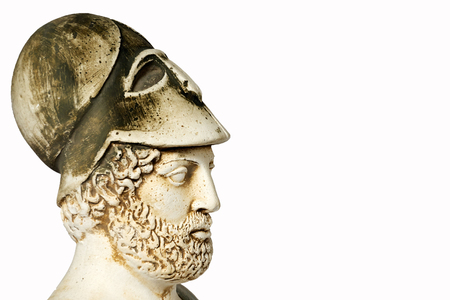 mathematician: Pericles was Ancient Greek statesman, orator and general of Athens during the Golden Age. White marble bust of him on white background