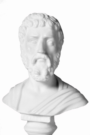 mathematician: Sophocles (496 BC - 406 BC) was an ancient Greek tragedians of the classical era. White marble bust of him