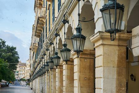 The historic center of Corfu town, LIston, Greece
