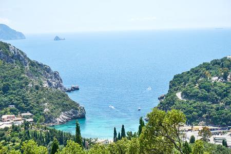 Palaiokastritsa on Corfu Greece Stock Photo