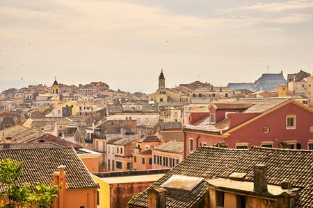 mediterranean culture: View of the historic  center of Corfu town, Greece Stock Photo