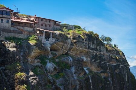 The Monastery of Great Meteoro is the largest monastery at Meteora, Greece