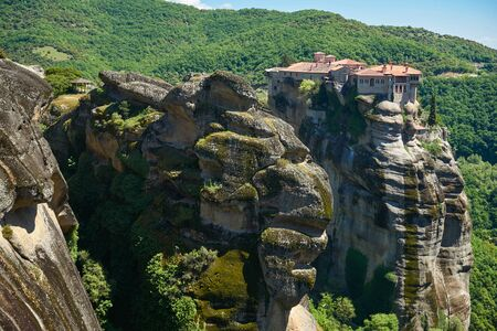 kalambaka: Great Monastery of Varlaam on the high rock in Meteora, Thessaly, Greece