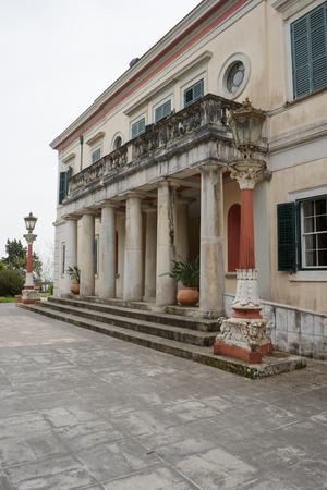 Mon Repos palace in Corfu island, Greece