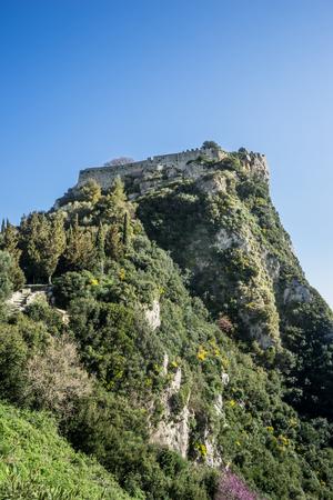 Angelocastro fortress in Corfu island, Greece