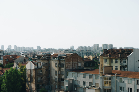 Panoramic view of Sofia city, Bulgaria Stock Photo