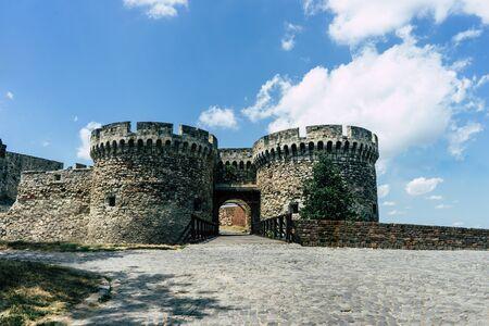 Kalemegdan Fortress entrance, ancient Singidunum, Belgrade, Serbia.
