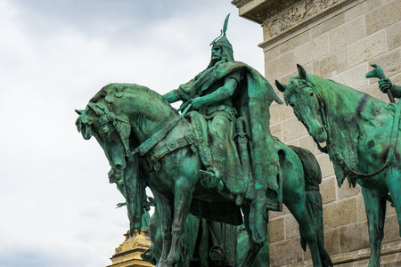 Heroes Square in Budapest, Hungary