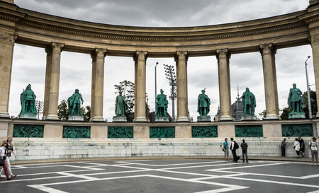 Budapest, Hungary. July 14, 2017. Heroes Square in Budapest, Hungary Editorial