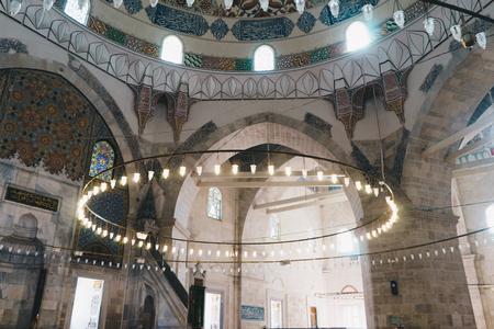 Interior of old Mosque in Edirne, Turkey