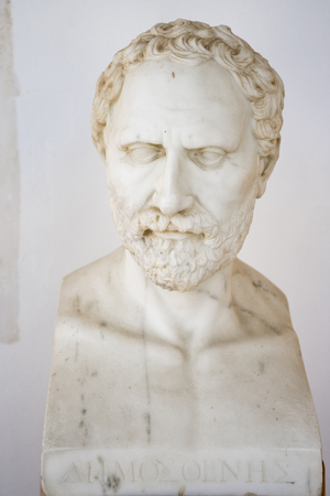 Dimosthenis bust in Achillion palace, Corfu, Greece