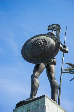 Statue of Achilles, Achillion Palace, Corfu, Greece. Editorial