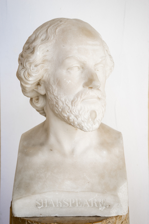 William Shakespeare bust in Achillion palace, Corfu, Greece