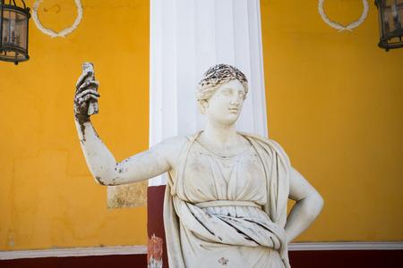 Statue of a Muse in Achillion Palace on Corfu island Greece