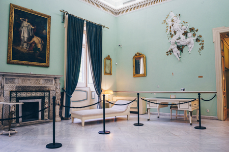 Achilleion palace of Empress of Austria Elisabeth of Bavaria, in Gastouri. Room details Editorial
