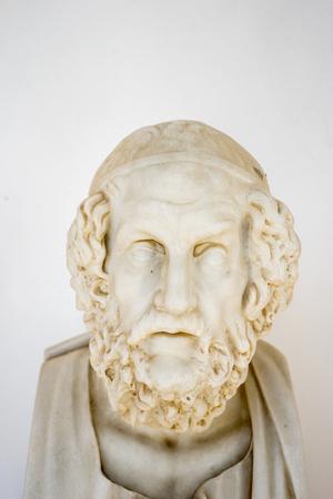 Homer bust in Achillion palace, Corfu, Greece