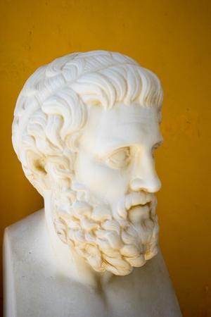 Sofoklis bust in Achillion palace, Corfu, Greece