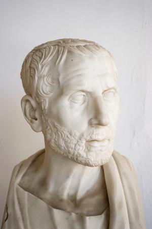 Posidonius Greek philosopher bust in Achillion palace, Corfu, Greece