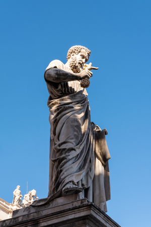 Statue of St. Peter in St. Peter's Square, Vatican City, Rome, Italy