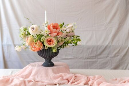 Still life with a beautiful bouquet of flowers Stockfoto