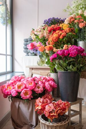 Beautiful flowers at the florist shop