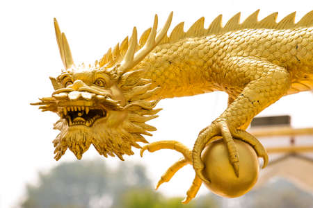 The dragon is the Chinese belief of Thailand. photo