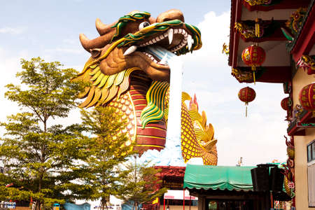 A dragon at large Located at Suphanburi photo