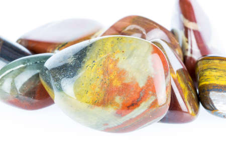 cabochon: Close up of Polished tiger Stock Photo