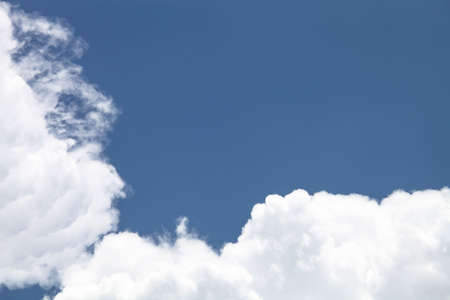 clound: Blue sky and clouds in summer season Stock Photo