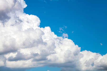 clound: fluffy clouds on the sky drifting away before storm Stock Photo