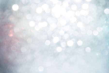 Zilveren Abstracte Feestelijke Achtergrond. Glitter Vintage Lights Background