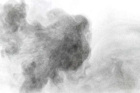 白い背景に、粉の雲の抽象的なデザイン 写真素材