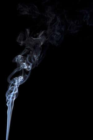 Smoke isolate on black background.Shot in studio Stock Photo