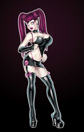 pinup girl: Goth pinup girl