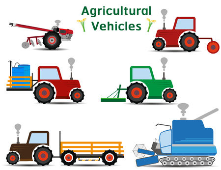 agricultural vehicles icon symbol