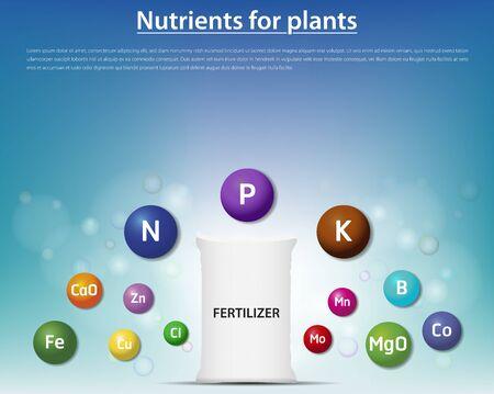 concept fertiliser nutrients for plants vector illustration Illustration