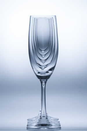 Empty wine glasses on white background Stock Photo