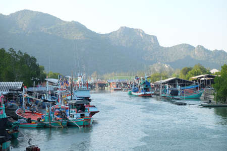 A fisherman village in Thailand Stock Photo