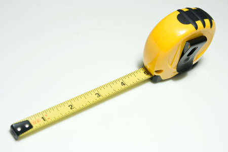 architect tools: Yellow Tape Measure on white background
