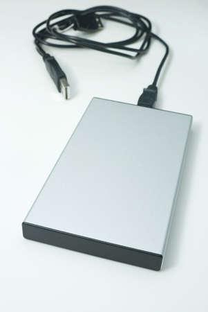 External hard drive. Aluminum case