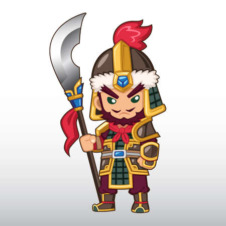 Vector Chinese Warrior Illustration