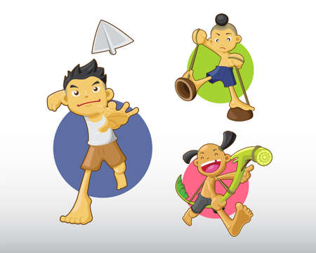 Thai Boys Illustration