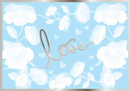 Tarjeta para el amor, mamá del amor, esposa del amor Foto de archivo - 81964092