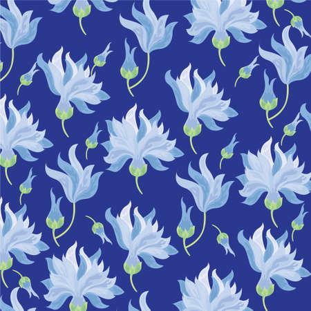 flower blue ornament background Foto de archivo - 125784459