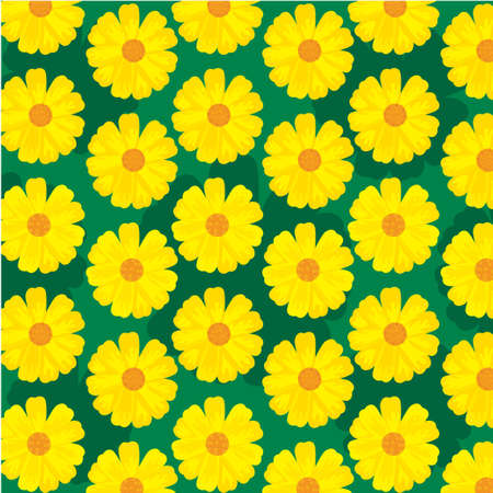 sun flower is shining for background vector, yellow flower, for wallpaper and print Foto de archivo - 126027661