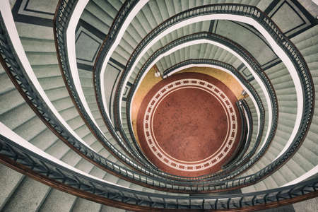 Spiral staircase of modern office building in Okraglak in Poznan, Poland